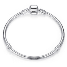 Luxury real 100% 925 Sterling Silver Snake Chain Bracelet Bangle for Women Authentic Charm Jew...
