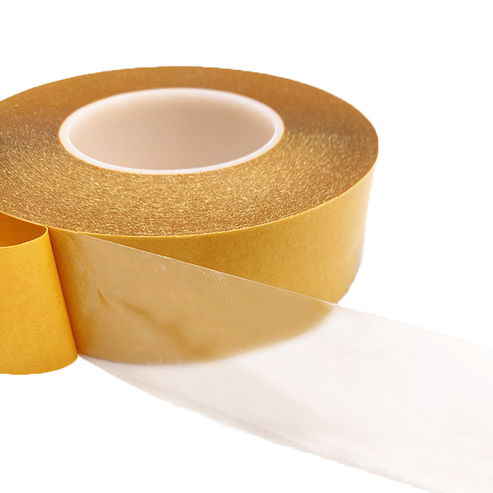 100M/Roll PET Double Sided Super Sticky Adhesive Tape Heat Resistant 0.05mm Thick Transparent PET Strong Double-sided Tape