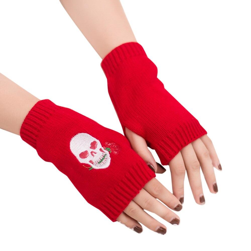 Sleeper #P501 2019 Fashion Women Girl Knitted Arm Fingerless Warm Winter Gloves Soft Warm Mitten перчатки женские Free Shipping