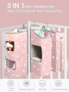 Orzbow Hanging-Bags Bed-Set Crib-Organizer Diaper Newborn Baby Kids for Care