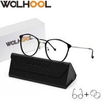 Brand Designer Geometric Blue light Blocking Computer Prescription Glasses Women Retro Optical Eyeglasses