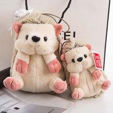 цена 15/20CM cute plush hedgehog toy soft padded cartoon hedgehog doll children kawaii birthday gift home shop decoration онлайн в 2017 году
