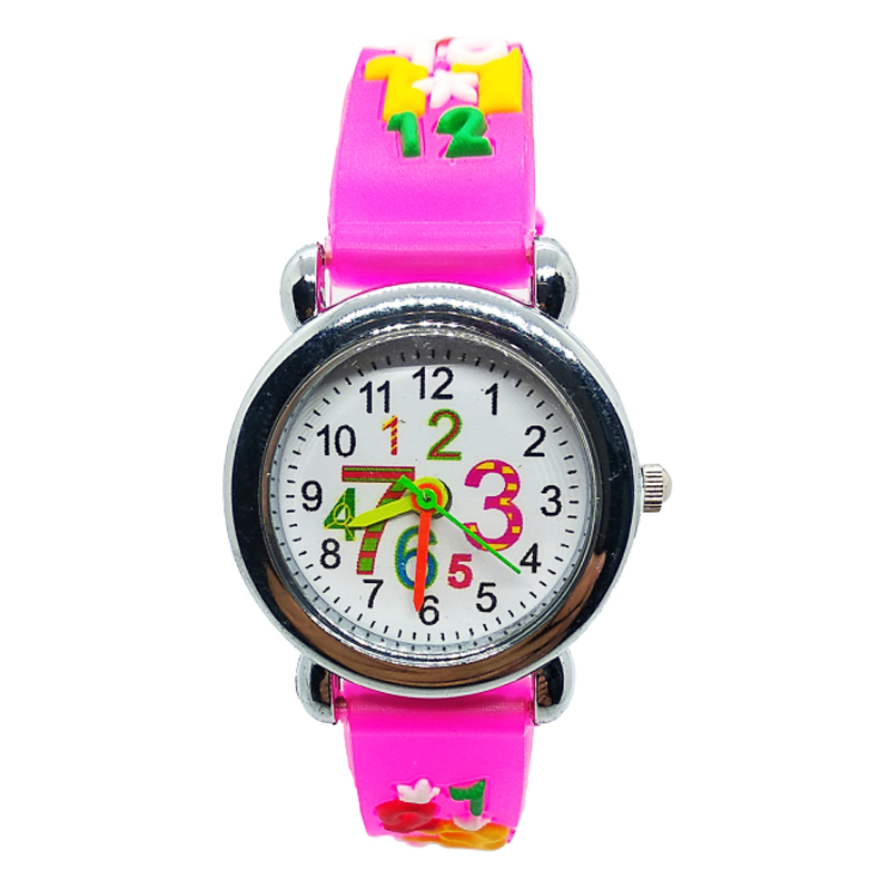Popular 3D Arabic Numerals 1-9 Watches Kids Children's Watch Boys Girls Christmas Gifts Quartz Wristwatches Montre Pour Enfants