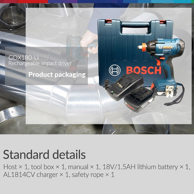 Bosch Original 18V Cordless Electric Impact Wrench Driver Socket Wrench Lithium Battery Hand Drill Installation Power Tools 5