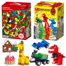цена на 1200 Pieces Building Blocks City DIY Creative Bricks Bulk Model Figures Educational Kids Toys for Children Compatible with Lego