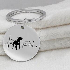 Coração bulldog dachshund bull terrier chaveiro jóias bonito filhote de cachorro cachorro chaveiro