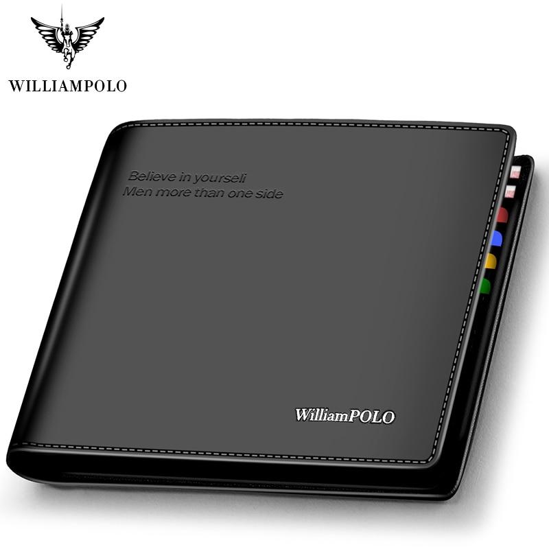 Genuine Leather Wallets Men Short Wallet Business Brand Leather Card Holder Money Cash Wallet Purses Pockets Credit Card Wallets