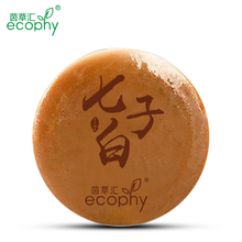Ecophy Seven Chinese Medicine White Face Soap Cleanser Blackhead Remover Acne Treatment Skin Care Extractor Face Black Head 80g(China)