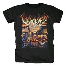 Blood hoof T Shirt noir pour homme, groupe de rock, Deathcore Brutal, estival, taille asiatique