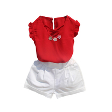 2019 Hot Sale New Children Suit 2/3 Pcs T-Shirt Short Pants Skirt Cute Girls Clothing Sweet Baby Set High Quality