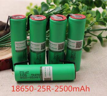 100 nowy 18650 bateria 2500mAh 3 7V INR18650 25R 20A rozładowania wysoki prąd spawania nikiel akumulator litowo-jonowy tanie i dobre opinie fijila INR18650-25R Li-ion Baterie Tylko Pakiet 1