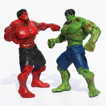 Red and Green Hulk Action Figures Collectible 10inch 9