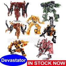 Aoyi figura de ação brinquedos ss devastator tf5 sobrecarga de metal roaring rolo bonveículo bonecrusher deformação transformação