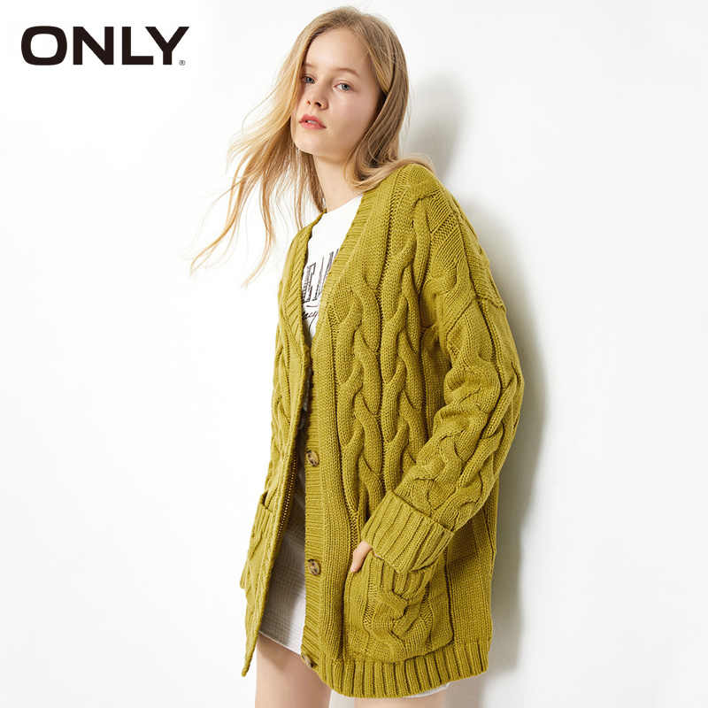 ONLY Womens Loose Fit 중간 길이 카디건 스웨터 | 11933B507