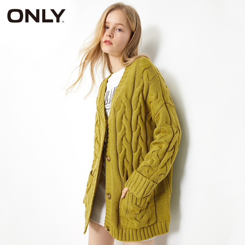 ONLY Womens Loose Fit Mid-length Cardigan Sweater| 11933B507