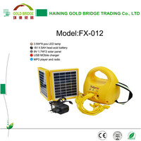 China Factory LED Solar Lantern with FM Radio MP3 Player and Phone Charger