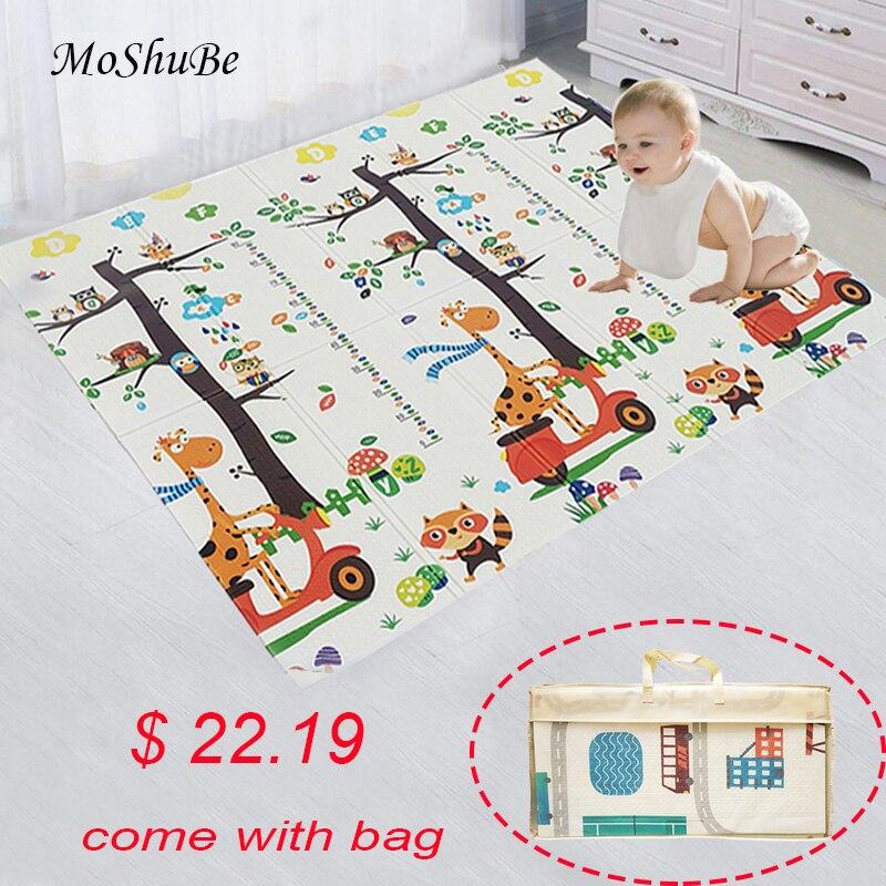 Esteira do jogo do bebê à prova dxágua xpe macio piso playmat dobrável rastejando tapete criança jogo atividade cobertor dobrável brinquedos educativos