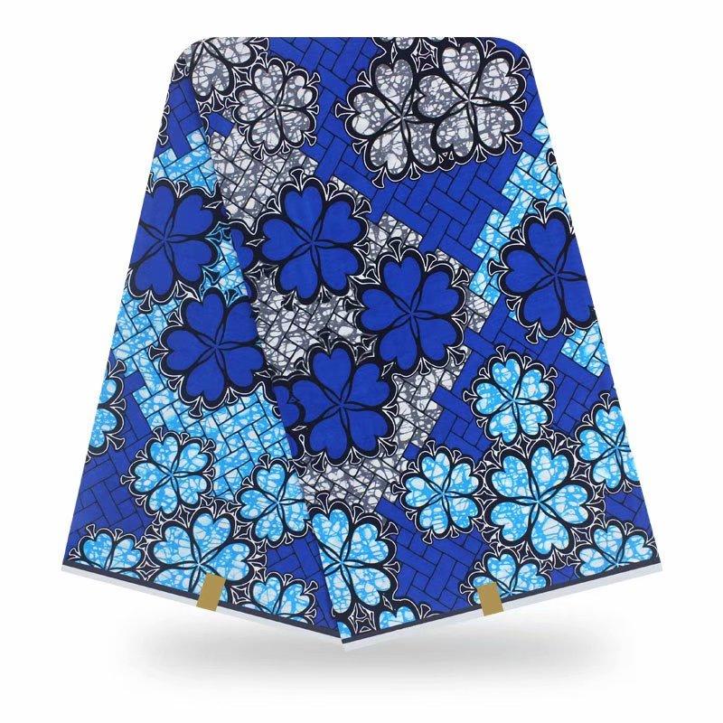 High Quality African Fabric Bazin Wax Print Fabric Ankara Fabric 100% Cotton DAMASK African Bazin Fabric For Dress 6yards