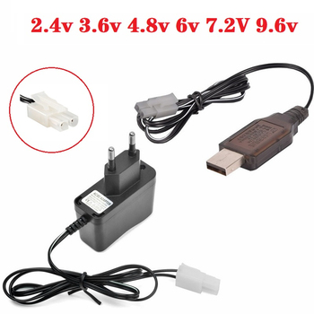 (EL6.2-2P/KET-2P/Tamiya) 2.4v 3.6v 4.8v 6v 7.2V 9.6v 250mAh USB Charger For Ni-Cd Ni-MH Battery Pack Toys car boat tank Charger image