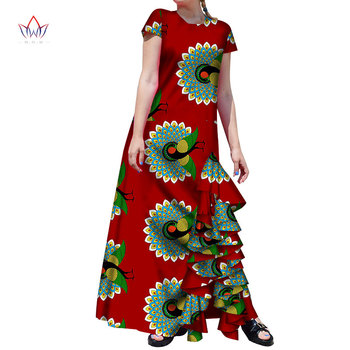 2020 Most Popular Women Apparel the Model of African Dress Short Sleeve Ankle Skirt Plus Size Custom Daily Women Clothes WY4830
