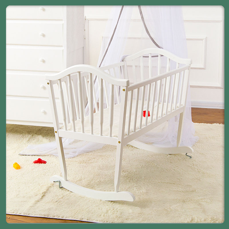0941  Baby Cradle Solid Wood Non-Paint Bassinet Newborns Babies' Bed BB Bed Mattress Delivery