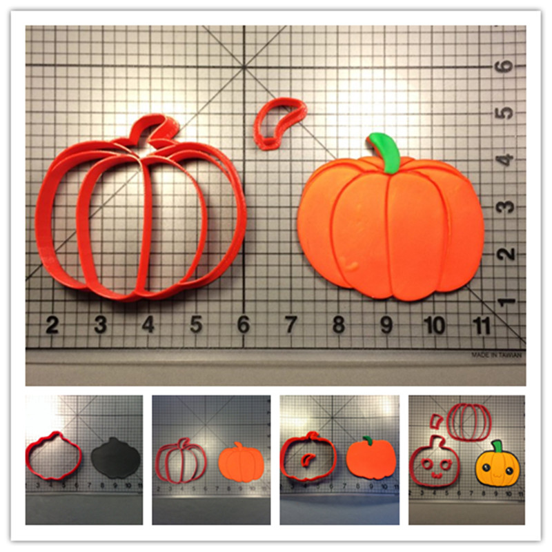 Vegetable series pumpkin shape steam bread cookie fondant gum paste cutter baking decorating tools 3D printed PLA image