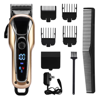 Multifunction Electric Hair Clipper Professional Digital Hair Trimmer Beard Shaver Clipper Cutting Machine Hair Trimmer KM-1990 vgr 11 in 1 multifunction hair clipper professional hair trimmer electric beard trimmer hair cutting machine trimer cutter 5