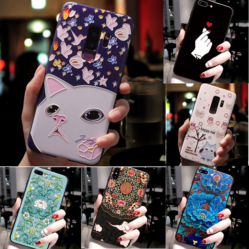 For Samsung Note 10 Plus Case Soft Silicone Cover 3D Floral Emboss Phone Case For Samsung Galaxy Note 10 Note10 Pro Note10+ Capa