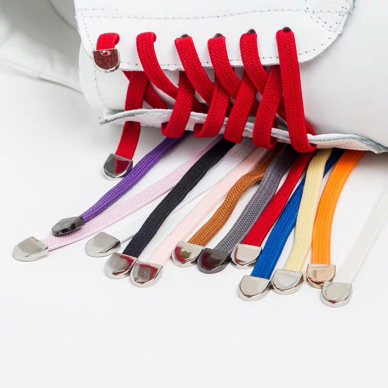 New 1Pair No Tie Shoe Laces Elastic Shoelaces Kids Adult Running Sneakers Shoelace Elastic Lazy Laces 24 Colors