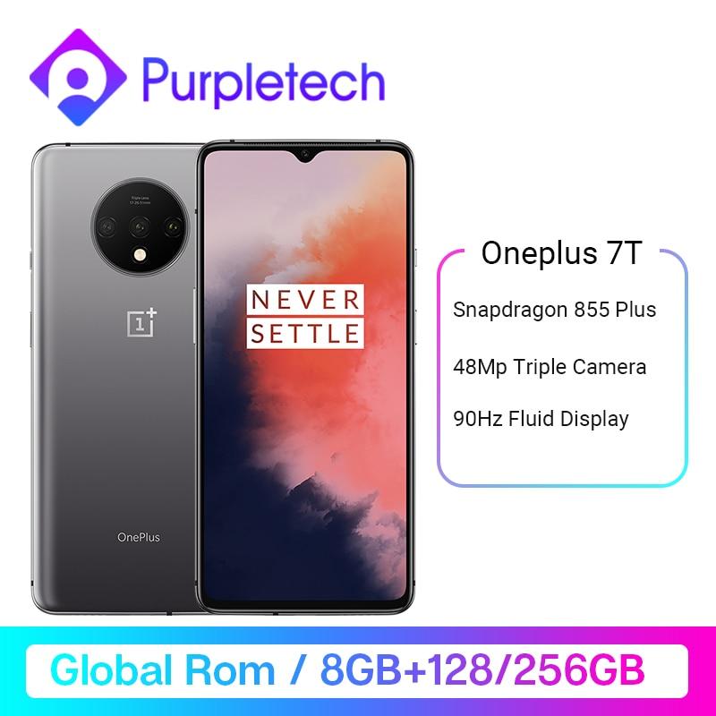 Global ROM OnePlus 7T Snapdragon 855 Plus 6.55'' AMOLED Screen 90Hz Fluid Display 48MP Triple Cameras UFS 3.0 NFC Smartphone