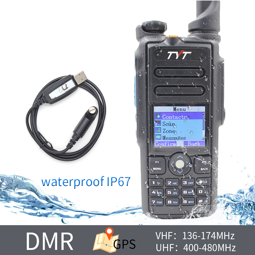 TYT MD-2017 136-174MHz 400-480MHZ Dual Band DMR Radio High Quality Transceiver IP67 Waterproof Digital Walkie Talkie