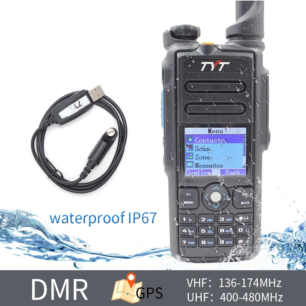 TYT MD-2017 136-174MHz 400-480MHZ Dual Band DMR Radio High Quality Transceiver IP67 Waterproof Digital Walkie Talkie