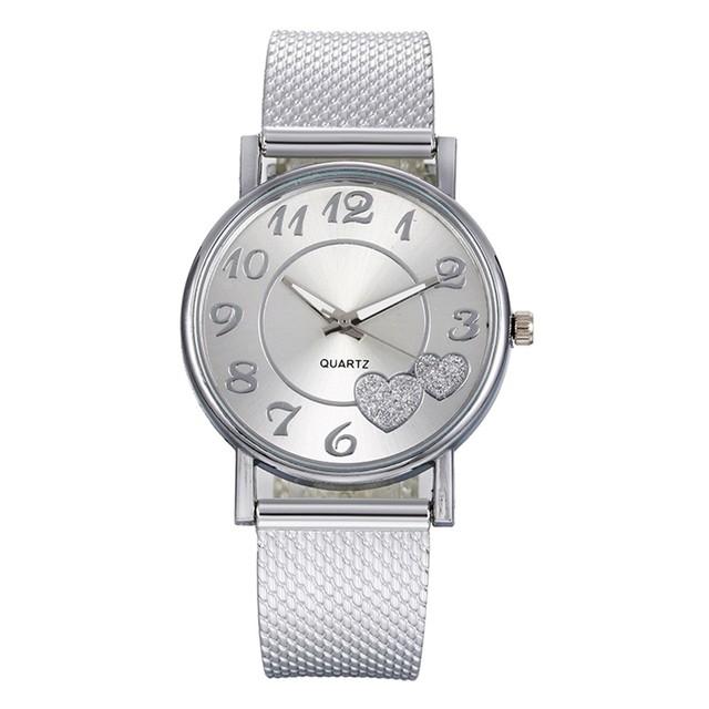 DUOBLA Luxury women's quartz, silicone mesh strap, wristwatches
