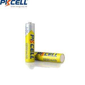 Image 3 - 8 個/2 カード pkcell 1.2 v ニッケル水素 aaa 充電式電池 aaa 1200 で 1000 サイクルバッテリー led 懐中電灯自転車ランプ