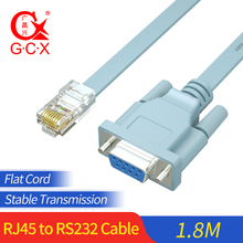 RJ45 to RS232 Converter Ethernet to DB9 COM Port Serial Female Routers Network Adapter for Switch Router Console Cable Cord 1.8m цена и фото