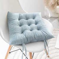 Зима-осень, матовые фарбические подушки для стула, домашний декор, обеденный коврик для сидения, 1 шт., квадратный, офисный, студенческий, Coussin...