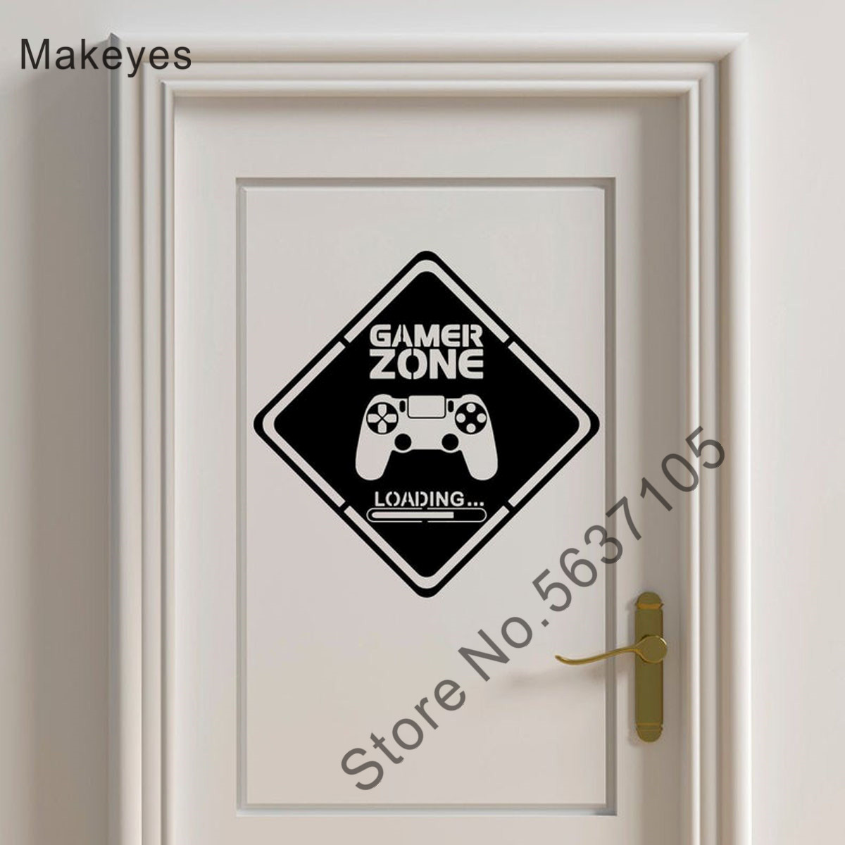 Makeyes Game Zone Wall Stickers Room Doors Decor Gamer Wall Decoration Painted Wallpaper Vinyl Design Games Zone Art Decal Q005