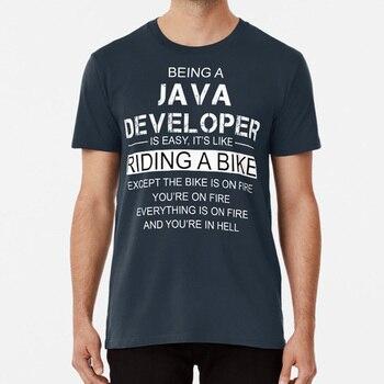 Ser un programador de Java es como andar en bicicleta camiseta de programador de Java