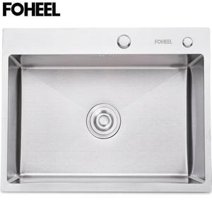 Image 1 - FOHEEL Stainless Steel Kitchen Sink  Slot Dish Basin Kitchen Sink Drain Basket And Drain Pip Rectangular