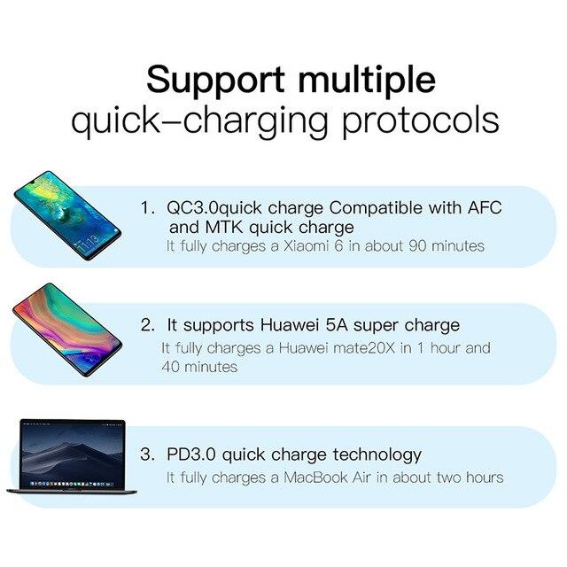 Купить baseus quick charge 40 30 usb зарядное устройство типа c qc картинки