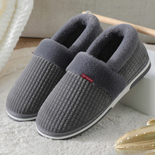Home-Slippers Couple Furry Short Indoor Shoes Plush Male Winter for Men Man Bedroom Soft