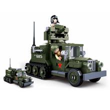 243 sztuk opancerzony czołg pojazd Model edukacyjne do budowania klocki dla chłopców DIY prezent urodzinowy małe klocki kompatybilne tanie tanio vidiem 5-7 lat 8 ~ 13 Lat 14Y Dorośli Ciężarówki Cars need adult s companion for safety Z tworzywa sztucznego VDN178