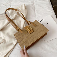 Женская сумка на плечо iou черная универсальная квадратная Осень