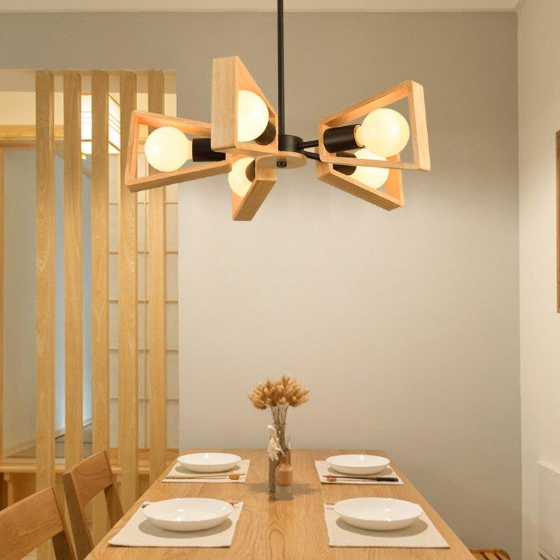 Modern Wooden Pendant Light Restaurant
