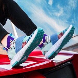 Image 3 - Мужские кроссовки, дышащие кроссовки для бега, разноцветные кроссовки, амортизирующие кроссовки для ходьбы, бега, спортивная обувь, спортивные кроссовки для тренировок