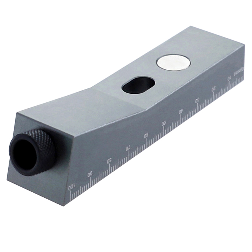 DIY Woodworking Positioner Punch Locator Wood Dowelling Inclined Pocket Hole Jig  Aluminium Alloy Punch Locator 104*24*15mm