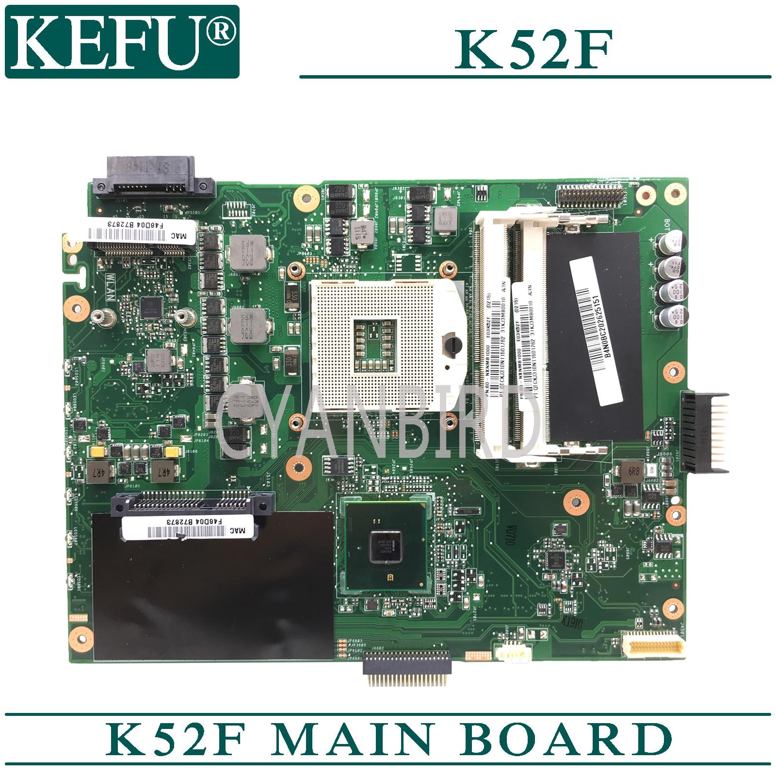 KEFU K52F Original Mainboard For ASUS K52F X52F A52F Laptop Motherboard