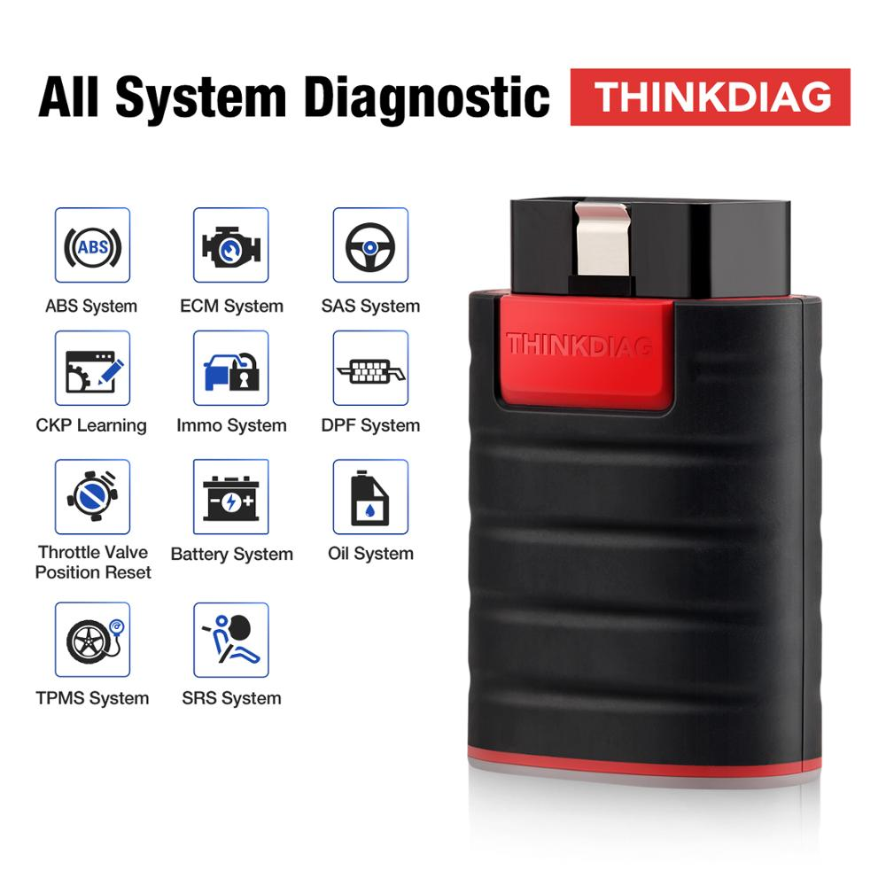 Escáner OBDII de sistema completo THINKDIAG, herramienta de diagnóstico, lector de código, 16, servicio de reinicio, prueba de actuación PK AP200 easydiag golo 200pc/3,0 Nuevo adaptador Bluetooth V1.5 Elm327 Obd2 Elm 327 V 1,5, escáner de diagnóstico para automóvil para Android Elm-327 Obd 2 ii, herramienta de diagnóstico para coche