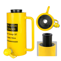 Hollow Hydraulic Cylinder RCH 20100 Hydraulic Jack with Tonnage of 20T, Work Travel of 100mm