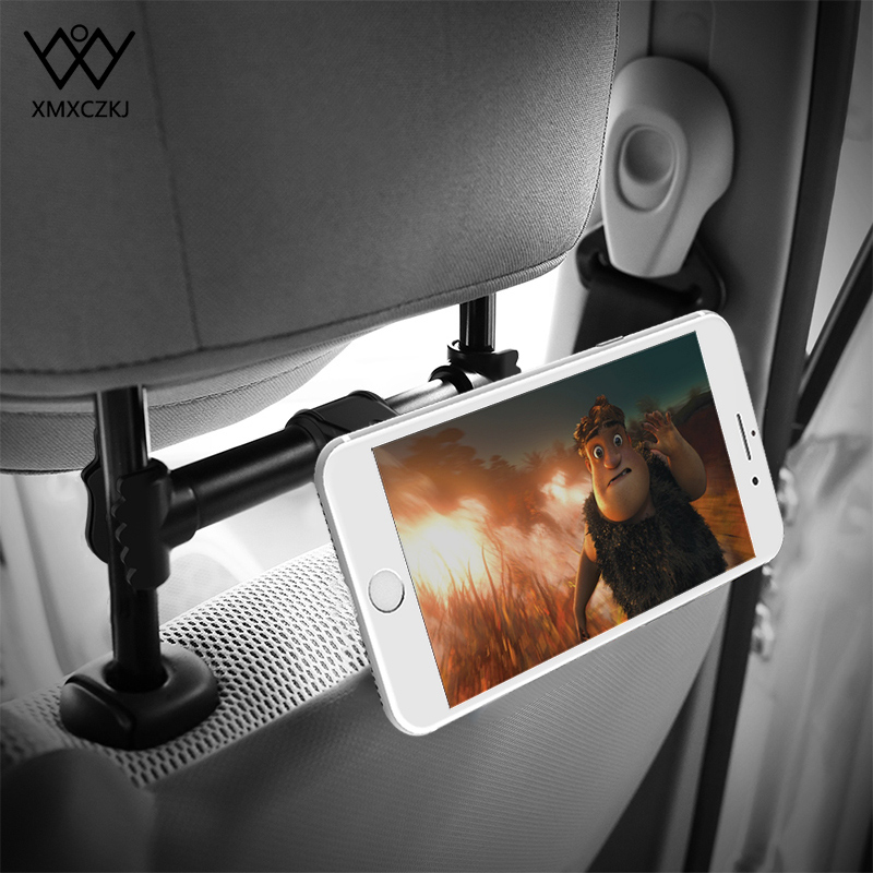 XMXCZKJ Car Headrest Magnetic Tablet Mobile Cell Phone Holder Back Seat Mount Magnet Stand Support For IPad 3 4 5 6 Air Mini 2 3